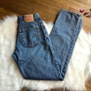 Vintage Levis 550 High Waist Tapered Mom Jeans 10L